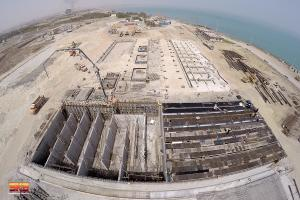 Installation of 10,000 cubic meters per day desalination (ROIV) for Kish south Kaveh steel company