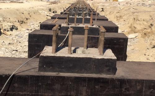 اجرای عملیات سیویل و ابنیه سازه Compressor House شرکت فولاد کاوه جنوب کیش