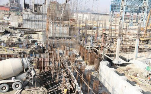 Execution project of Part of the civil works of Kish south Kaveh steel company, phase II